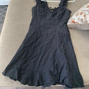 Free People dress black M back open and bottons